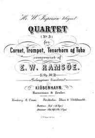 Brass Quartet No.3, Op.30 : Complete Sco... Volume Op.30 by Ramsöe, Wilhelm