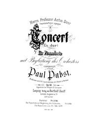 Piano Concerto in E-flat major, Op.82 : ... Volume Op.82 by Pabst, Paul