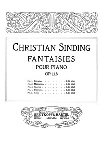 Fantaisies (Fantasien) : No.2 Méditation... Volume Op.118 by Sinding, Christian