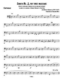 Sonata II a tre, livre 3 : Bass Volume Livre 3 by Barrière, Jean-Baptiste