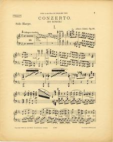 Harp Concerto, Op.35 : Harp Part Volume Op.35 by Zabel, Albert