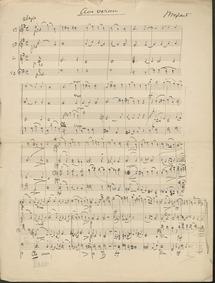 Ave verum corpus, K.618 : Score Volume K.618 by Mozart, Wolfgang Amadeus
