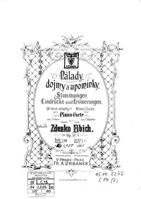 Moods, Impressions, and Souvenirs, Op.57... Volume Op.57 by Fibich, Zdeněk