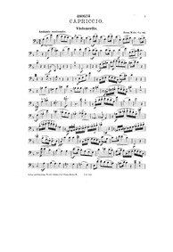 Capriccio for Piano Quartet, Op.43 : Cel... Volume Op.43 by Mohr, Hermann