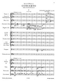 Cello Concerto (Koncert pro violoncello ... Volume Op.104 ; B.191 by Dvořák, Antonín
