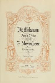 L'Africaine (Opéra en cinq actes) : Prel... by Meyerbeer, Giacomo