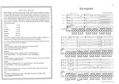 Piano Quintet, Op.45 : Complete Score an... Volume Op.45 by Franck, Eduard