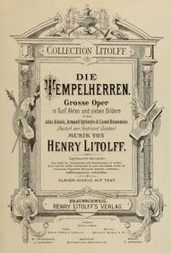 Les templiers (Opéra en cinq actes) : Pr... by Litolff, Henry Charles