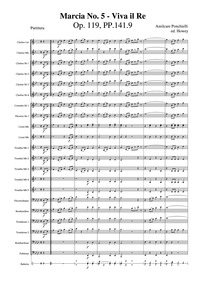 Marcia No.5, Op.119 : Complete score Volume Op.119, PP.141.9 by Ponchielli, Amilcare