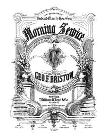 Morning Service in C major, Op.54 (Te De... Volume Op.54 by Bristow, George Frederick