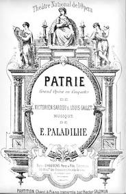 Patrie! (Grand opéra en cinq actes) : Pr... by Paladilhe, Émile