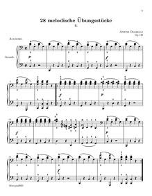 28 Melodische übungstücke (Melodic Pract... Volume Op.149 by Diabelli, Anton