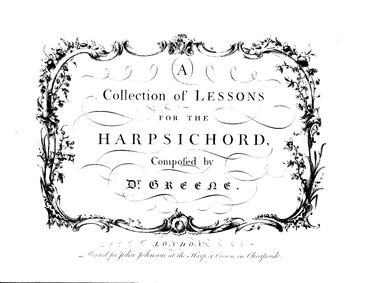 A Collection of Lessons for the Harpsich... by Greene, Maurice