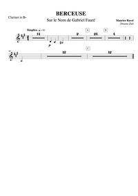 Berceuse sur le nom de Gabriel Fauré : C... Volume M.74 by Ravel, Maurice