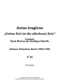Gottes Zeit ist die allerbeste Zeit (Act... Volume BWV 106 by Bach, Johann Sebastian