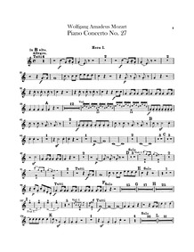 Piano Concerto No.27 in B-flat major, K.... Volume K.595 by Mozart, Wolfgang Amadeus