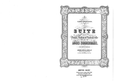 Suite, Op.19 : Complete Score and Parts Volume Op.19 by Zimmermann, Agnes