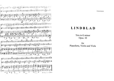 Piano Trio, Op.10 : Complete Score and P... Volume Op.10 by Lindblad, Adolf Fredrik