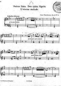 Petits poèmes (Pieniä runoelma pianolle ... Volume Op.14 by Hannikainen, Ilmari