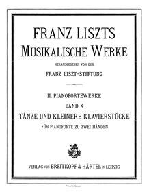 Grande valse di bravura (Le bal de Berne... Volume S.209 ; LW.A32a ; Op.6 by Liszt, Franz