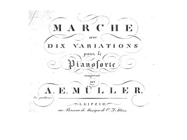 March with 10 Variations (Marche avec 10... by Müller, August Eberhard