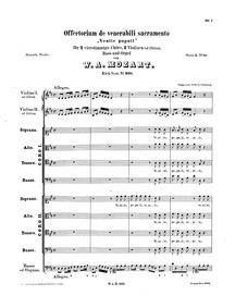 Venite populi, K.260/248a : Complete Sco... Volume K.260 ; K6.248a by Mozart, Wolfgang Amadeus