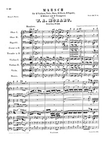 March (Haffner) : Complete Score Volume K.249 by Mozart, Wolfgang Amadeus
