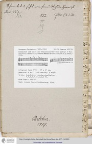 Schmecket und sehet wie freundlich der H... Volume GWV 1143/19 by Graupner, Christoph