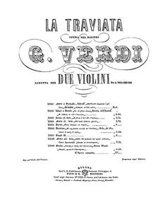 La traviata (The Fallen Woman) : Parts o... by Verdi, Giuseppe