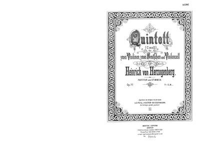 String Quintet, Op.77 : Complete Score Volume Op.77 by Herzogenberg, Heinrich von