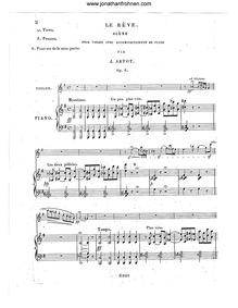 Le Rêve, Op.6 : Piano Score Volume Op.6 by Artôt, Alexandre Joseph