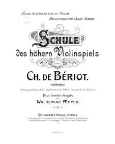 60 Etudes de Concert (Ecole transcendant... Volume Op.123 by Bériot, Charles-Auguste de