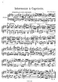 Intermezzo à Capriccio : Complete Score by Kirchner, Fritz