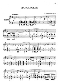 Barcarolle No.2, Op.45b : Complete Score Volume 45b by Rubinstein, Anton