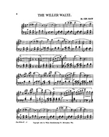 Willer Waltz : Complete Score by Bach, Christoph