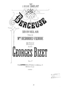 Berceuse : Complete Score (E♭ flat Major... Volume WD 85 by Bizet, Georges