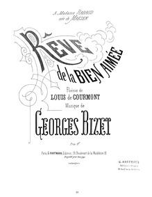 Rêve de la bien-aimée : Complete Score ♭... Volume WD 83 by Bizet, Georges
