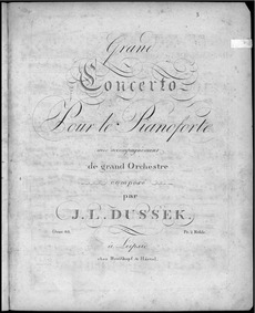 Piano Concerto, Op.66 : Piano Solo Volume Op.66 by Dussek, Jan Ladislav