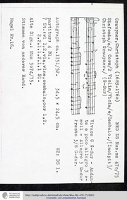 Sinfonia in G major, GWV 593 : Complete ... Volume GWV 593 by Graupner, Christoph