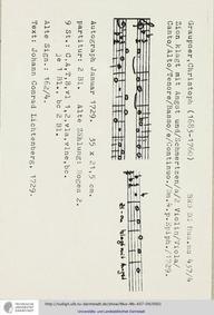 Zion klagt mit Angst und Schmerzen, GWV ... Volume GWV 1115/29 by Graupner, Christoph