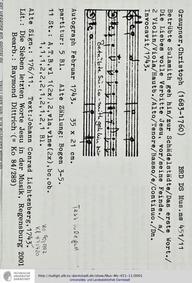 Betrübte Sulamith geh hin, GWV 1120/43 :... Volume GWV 1120/43 by Graupner, Christoph