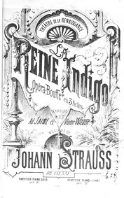 La reine Indigo (Opérette en trois actes... by Strauss Jr., Johann