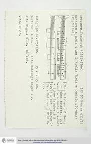 Viola d'amore Concerto in G major, GWV 7... Volume GWV 726 by Graupner, Christoph