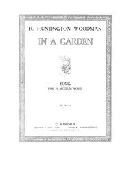 In a Garden : Complete Score (D♭ flat Ma... by Woodman, Raymond Huntington