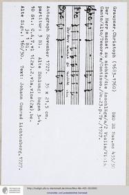 Der Herr machet zunichte, GWV 1164/27 : ... Volume GWV 1164/27 by Graupner, Christoph