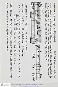 Gross sind die Werke des Herrn, GWV 1139... Volume GWV 1139/53 by Graupner, Christoph