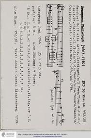 Jauchzet Gott alle Lande, GWV 1171/44 : ... Volume GWV 1171/44 by Graupner, Christoph