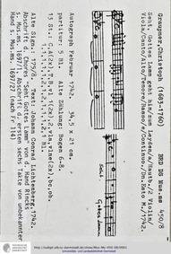 Seht Gottes Lamm geht hin, GWV 1119/42 :... Volume GWV 1119/42 by Graupner, Christoph