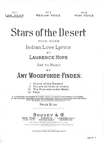 Stars of the Desert (Four More Indian Lo... by Woodforde-Finden, Amy