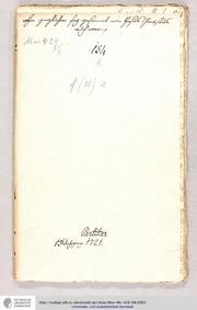 Ein jeglicher sei gesinnet, GWV 1126/21 ... Volume GWV 1126/21 by Graupner, Christoph